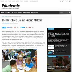 The Best Free Online Rubric Makers