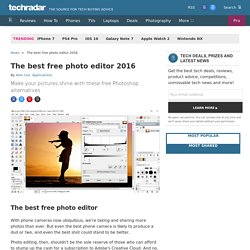 Best free photo editing software: 10 top image editors you should try