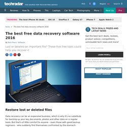 The best free file recovery software 2016
