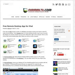 Best Free Remote Desktop Apps for iPad