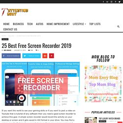 25 Best Free Screen Recorder 2019