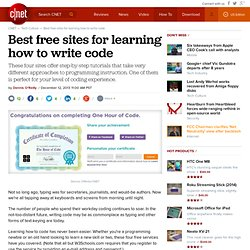 Best free sites for learning how to write code - CNET Mobile