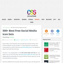 500+ Best Free Social Media Icon Sets › Free Icon Sets