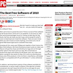 The Best Free Software of 2010