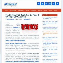 25 Best Free SEO Tools For On-Page & Off-Page SEO Analysis