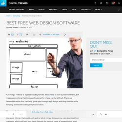 Best Free Web Design Software