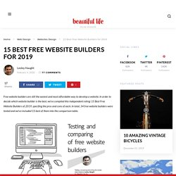 15 Best Free Website Builders of 2017