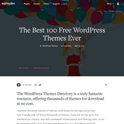 The Best 100 Free WordPress Themes Ever