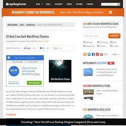 21 Best Free Dark WordPress Themes