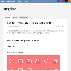 The Best Freebies for Designers (June 2013)