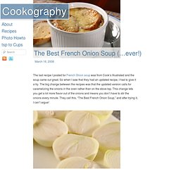 The Best French Onion Soup (…ever!)