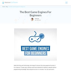 The Best Game Engines for Beginners