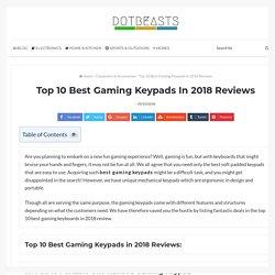 Top 10 Best Gaming Keypads in 2018 Reviews