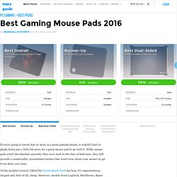 Best Gaming Mouse Pads 2016