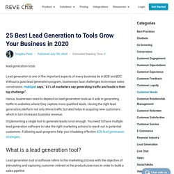 25 Best Lead Generation Tools to Grow Your Business in 2020