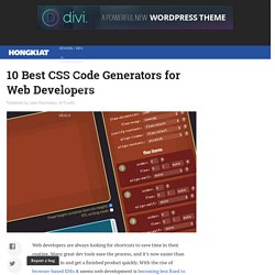 10 Best CSS Code Generators for Web Developers