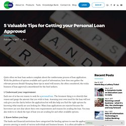 5 Best Tips for Getting your Personal Loan Approved