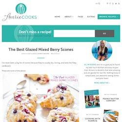 The Best Glazed Mixed Berry Scones