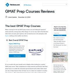 Best GMAT Prep Courses of 2017