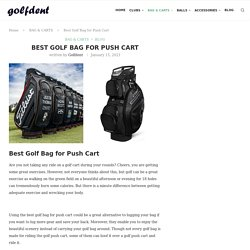 Best Golf Bag for Push Cart - Golfdent