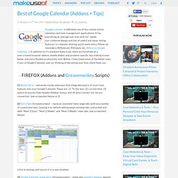 Best of Google Calendar (Addons + Tips)