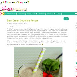 Best Green Smoothie Recipe