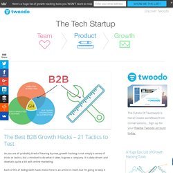 The Best B2B Growth Hacks - 21 Tactics to Test