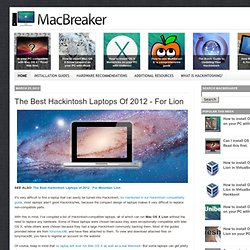 The Best Hackintosh Laptops of 2012