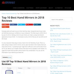 Top 10 Best Hand Mirrors in 2018 Reviews (June. 2018)
