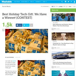 Best Holiday Tech Gift: We Have a Winner!