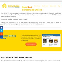 Best Homemade Cheese - Homemade Cheese.org