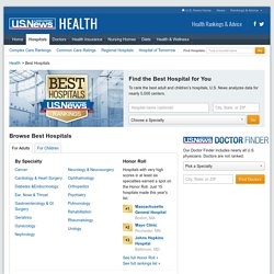 Top American Hospitals - US News Best Hospitals