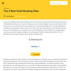 The 3 Best Hotel Booking Sites of 2015