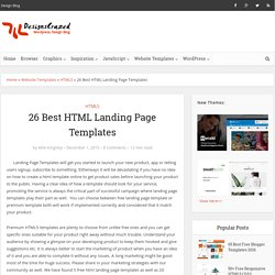 25 Best HTML Landing Page Templates