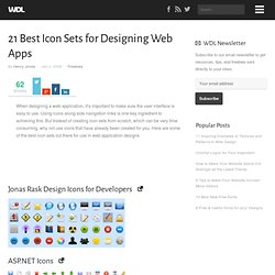 21 Best Icon Sets for Designing Web Apps | Web Design Ledger