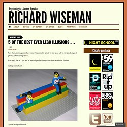 5 of the best ever Lego illusions…. « Richard Wiseman's Blog