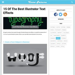 15 Of The Best Illustrator Text Effects