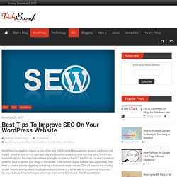 Best Tips to Improve SEO on Your WordPress Website