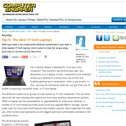 Guide To Best 17 Inch Laptops
