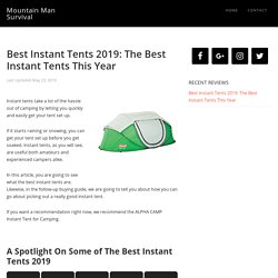 Best Instant Tents 2019: The Best Instant Tents This Year