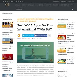Best YOGA Apps On This International YOGA DAY - AppSquadz Blog