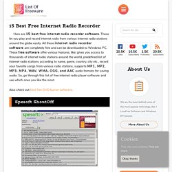 15 Best Free Internet Radio Recorder
