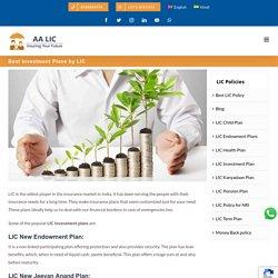 Best Investment Plans by LIC - Ali Asgar