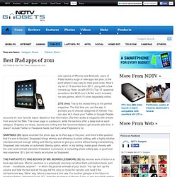 Best iPad apps of 2011