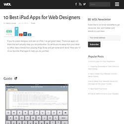 10 Best iPad Apps for Web Designers | Tools