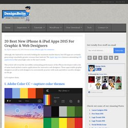 20 Best New iPhone & iPad Apps 2015 For Graphic & Web Designers