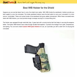 Best IWB Holster for the Shield
