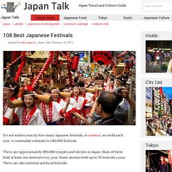 108 Best Japanese Festivals