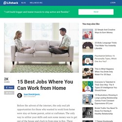 15 Best Jobs Where You Can Work from Home
