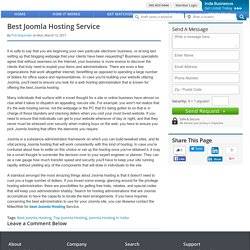 Best Joomla Hosting Service